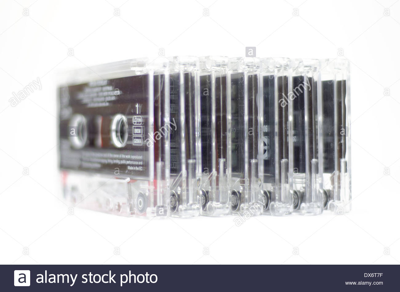 Audio cassette tapes - Stock Image