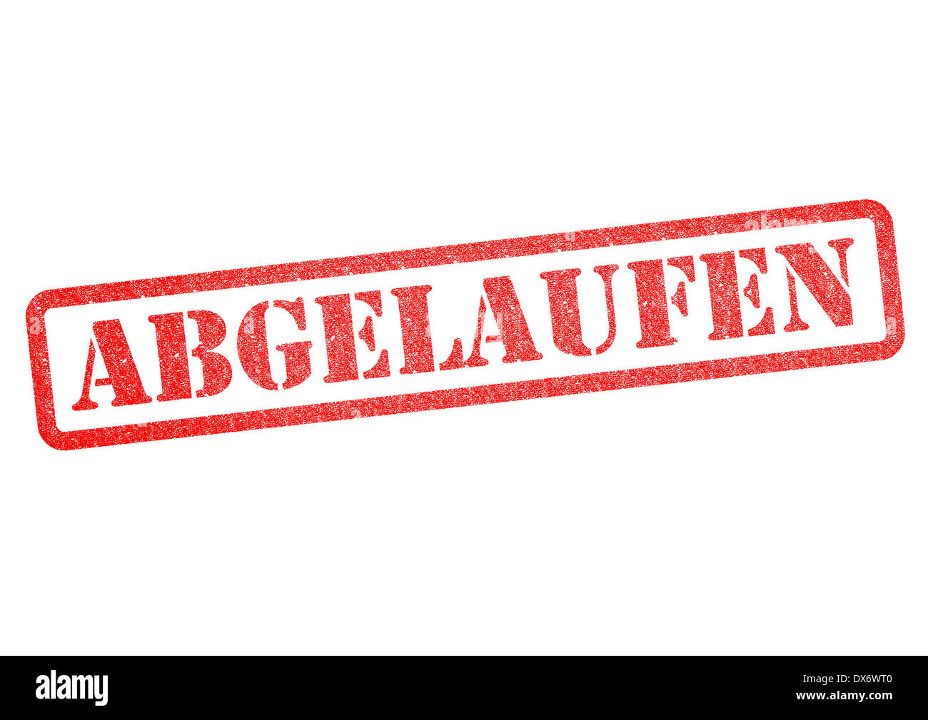 Abgelaufen (Expired) Stempel/Stamp over a white background. - Stock Image