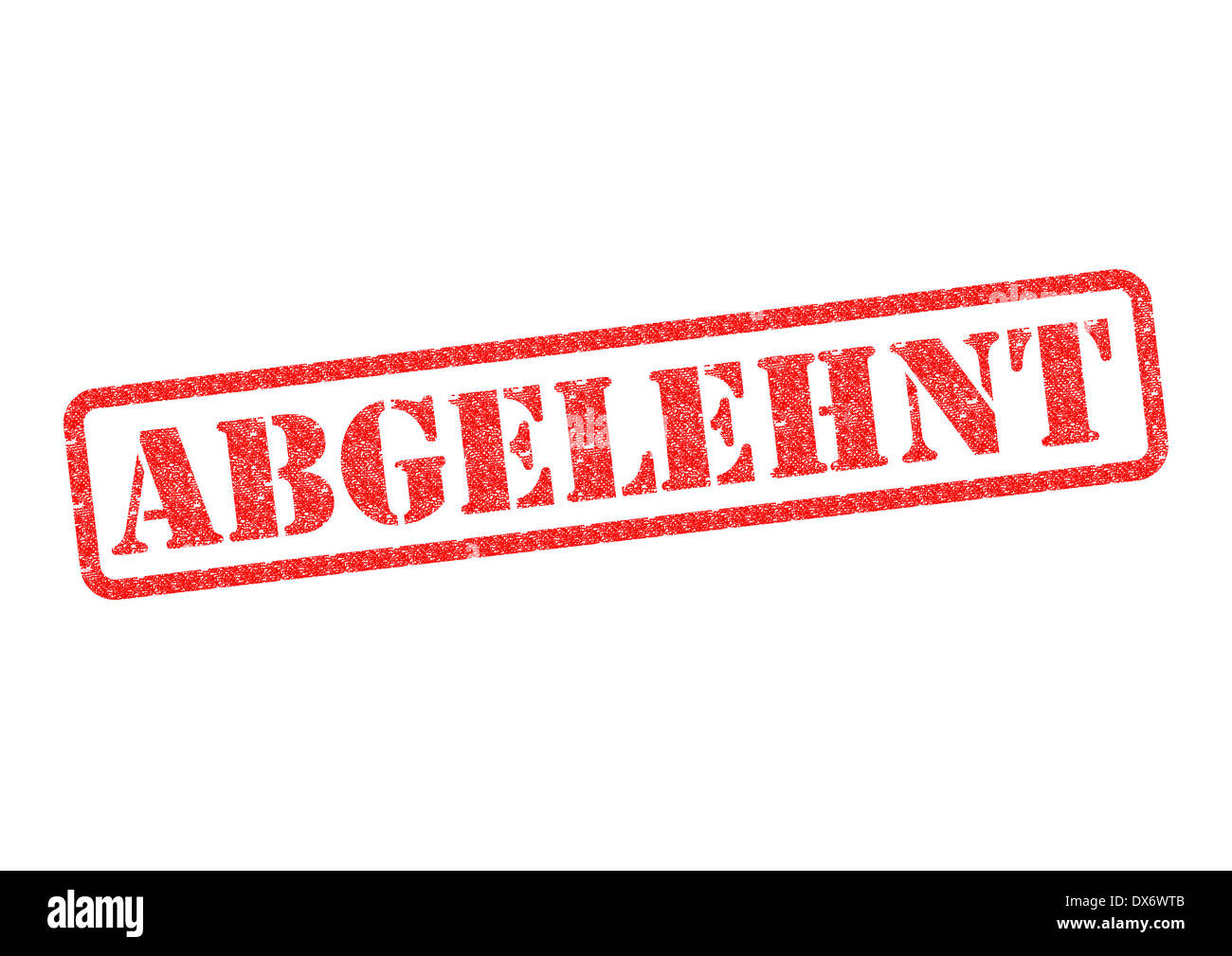Abgelehnt (Rejected) Stempel/Stamp over a white background. - Stock Image