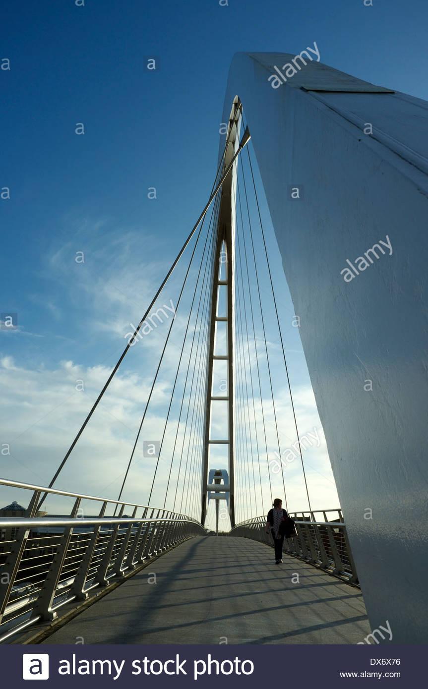 The Infinity Bridge in Stockton-on-Tees, north east England, UK. Stock Photo