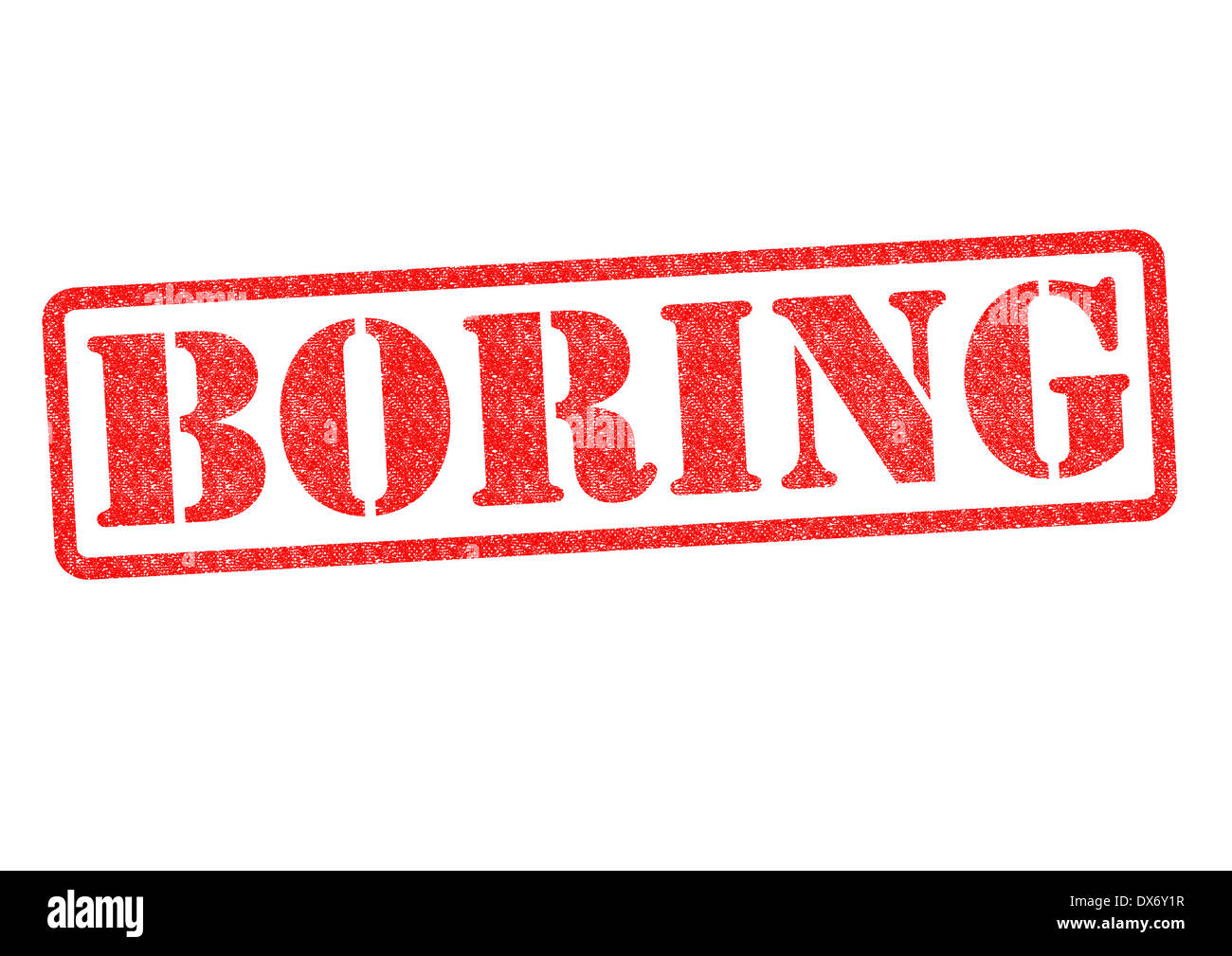 BORING Rubber Stamp over a white background. Stock Photo
