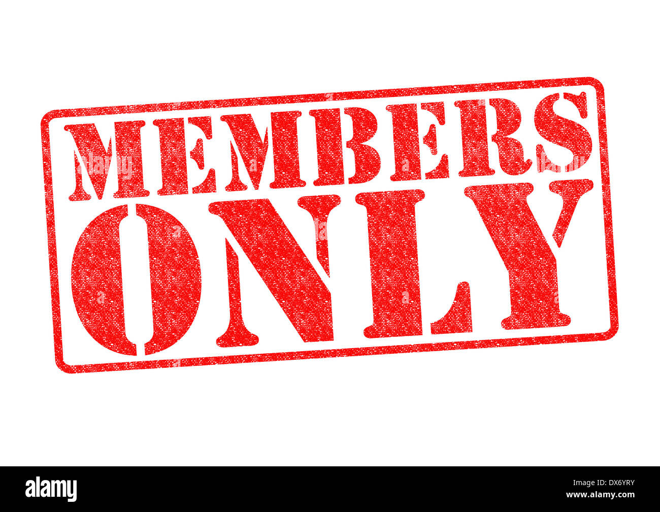 MEMBERS ONLY Rubber Stamp over a white background. - Stock Image