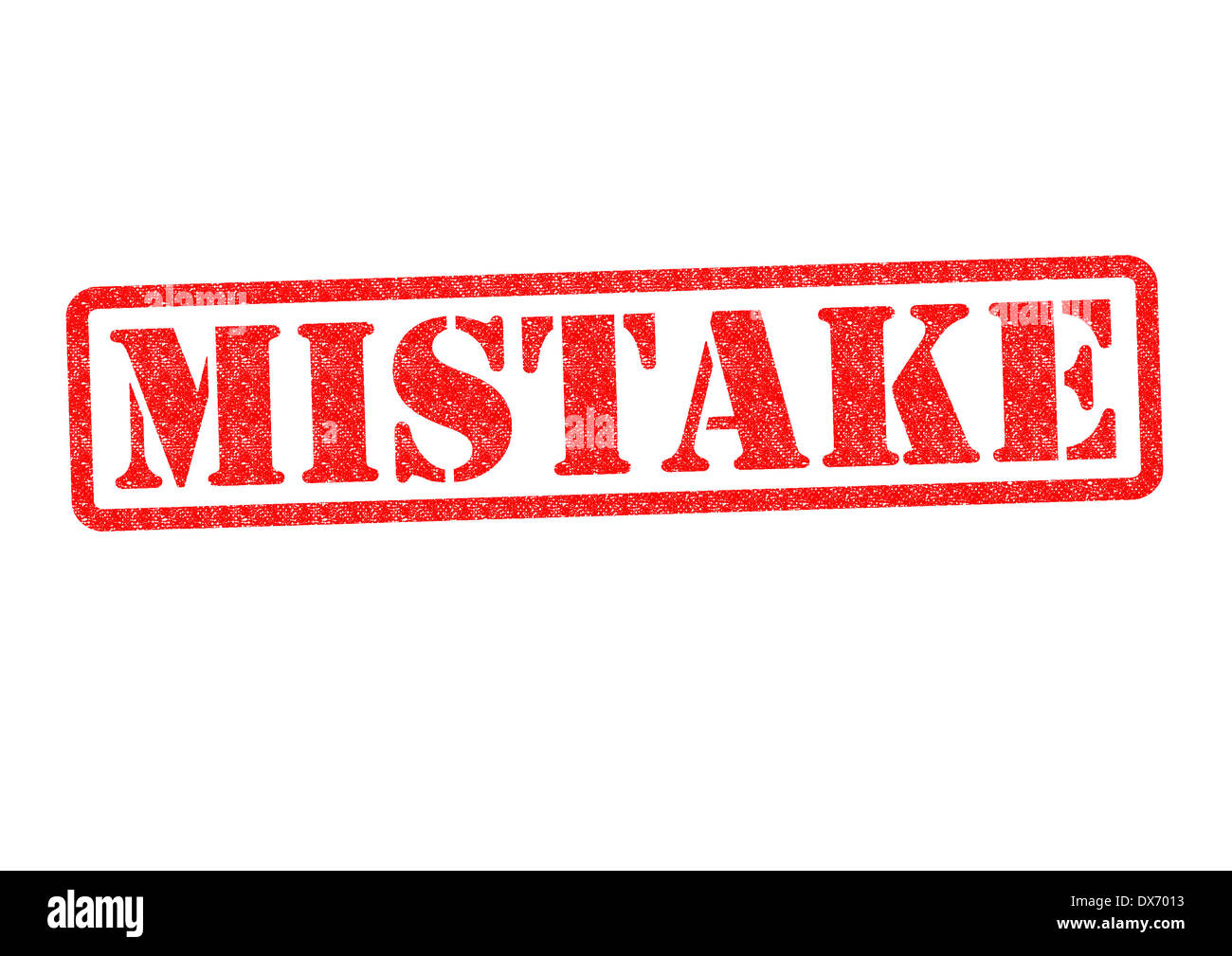 MISTAKE Rubber Stamp over a white background. - Stock Image
