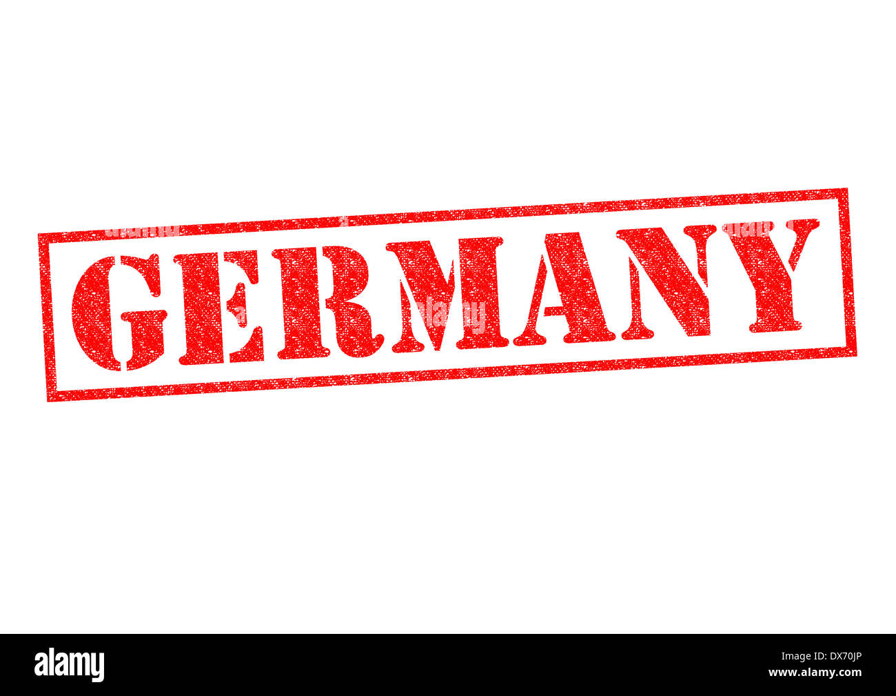 GERMANY Rubber Stamp over a white background. - Stock Image