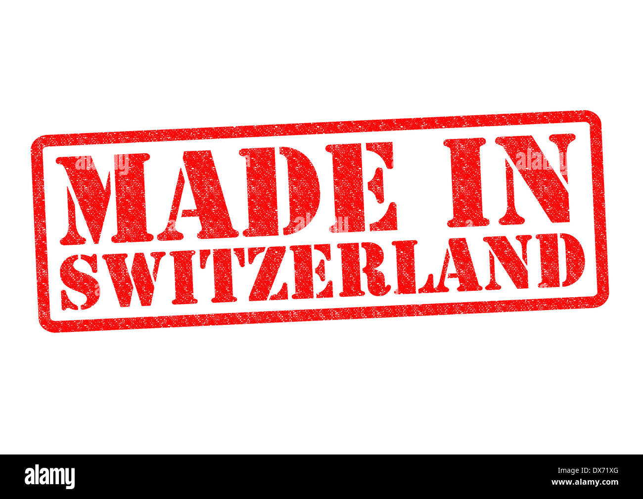 MADE IN SWITZERLAND Rubber Stamp over a white background. - Stock Image