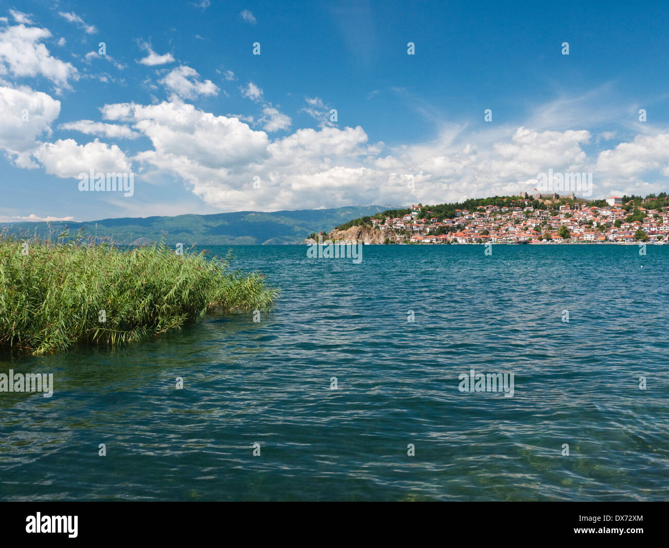 The UNESCO protected city and lake of Ohrid, Macedonia - Stock Image