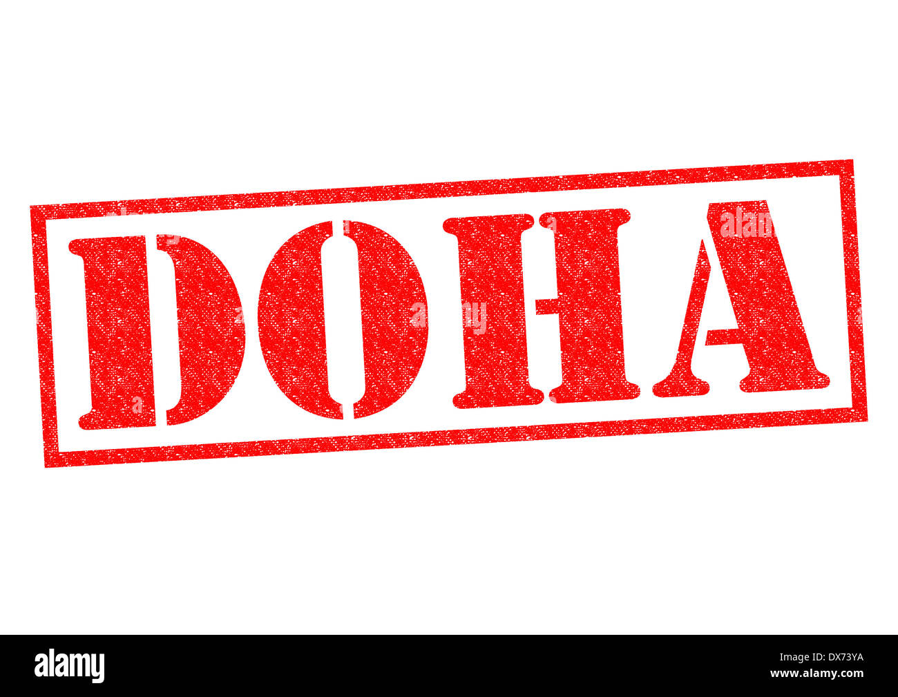 DOHA Capital Of Qatar Rubber Stamp Over A White Background