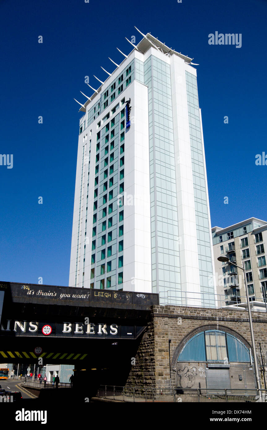 Radisson Blu Hotel, Cardiff, Wales. - Stock Image