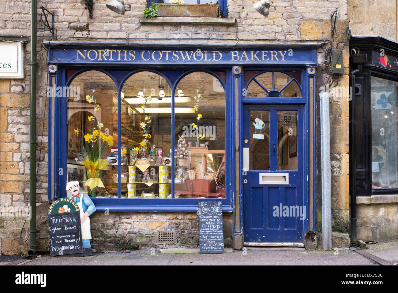 Norths Cotswold Bakery Shop, Stow on the Wold, Cotswolds, Gloucestershire, England - Stock Image