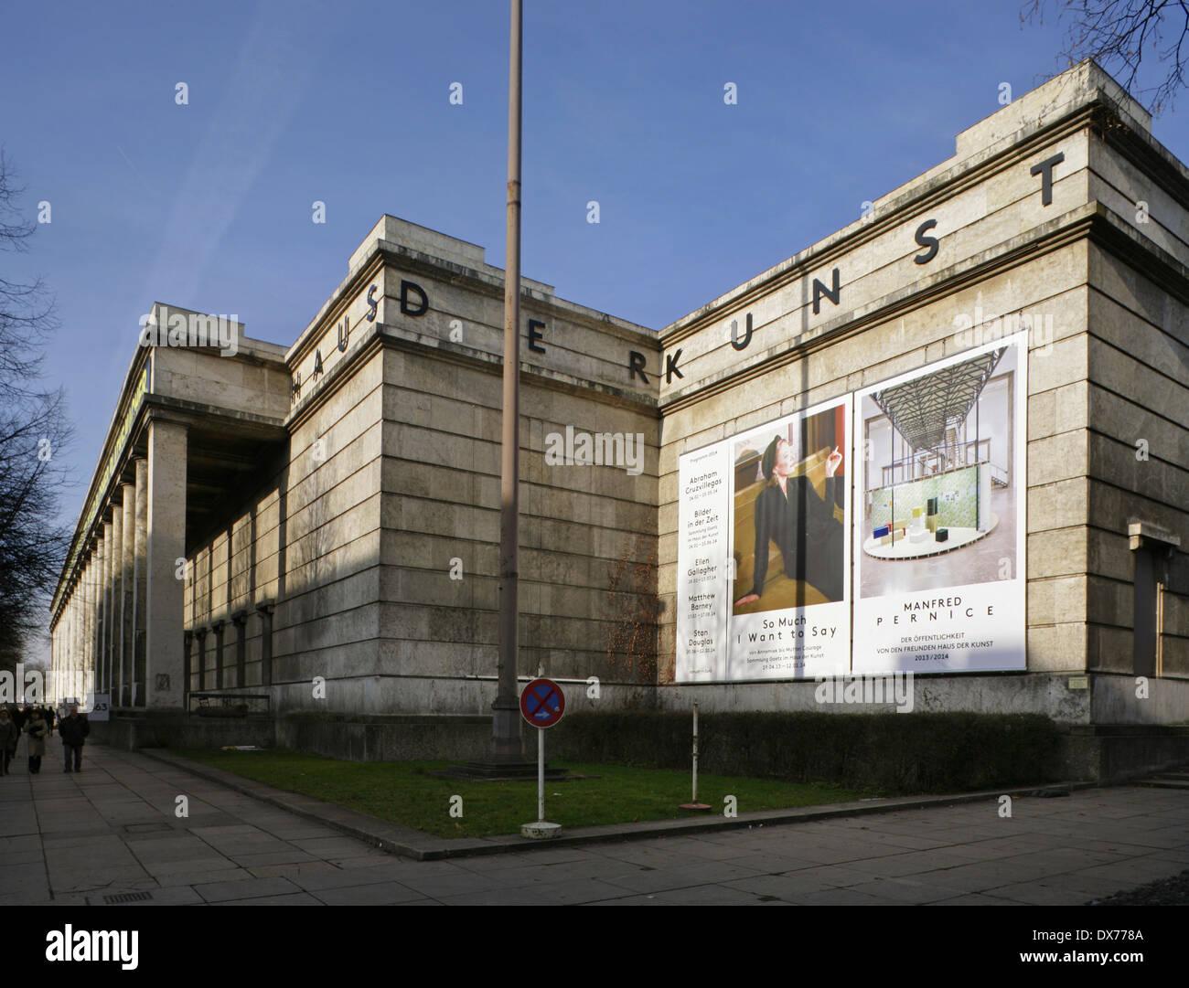 The Haus Der Kunst Or House Of Art Modern Art Museum Munich Stock