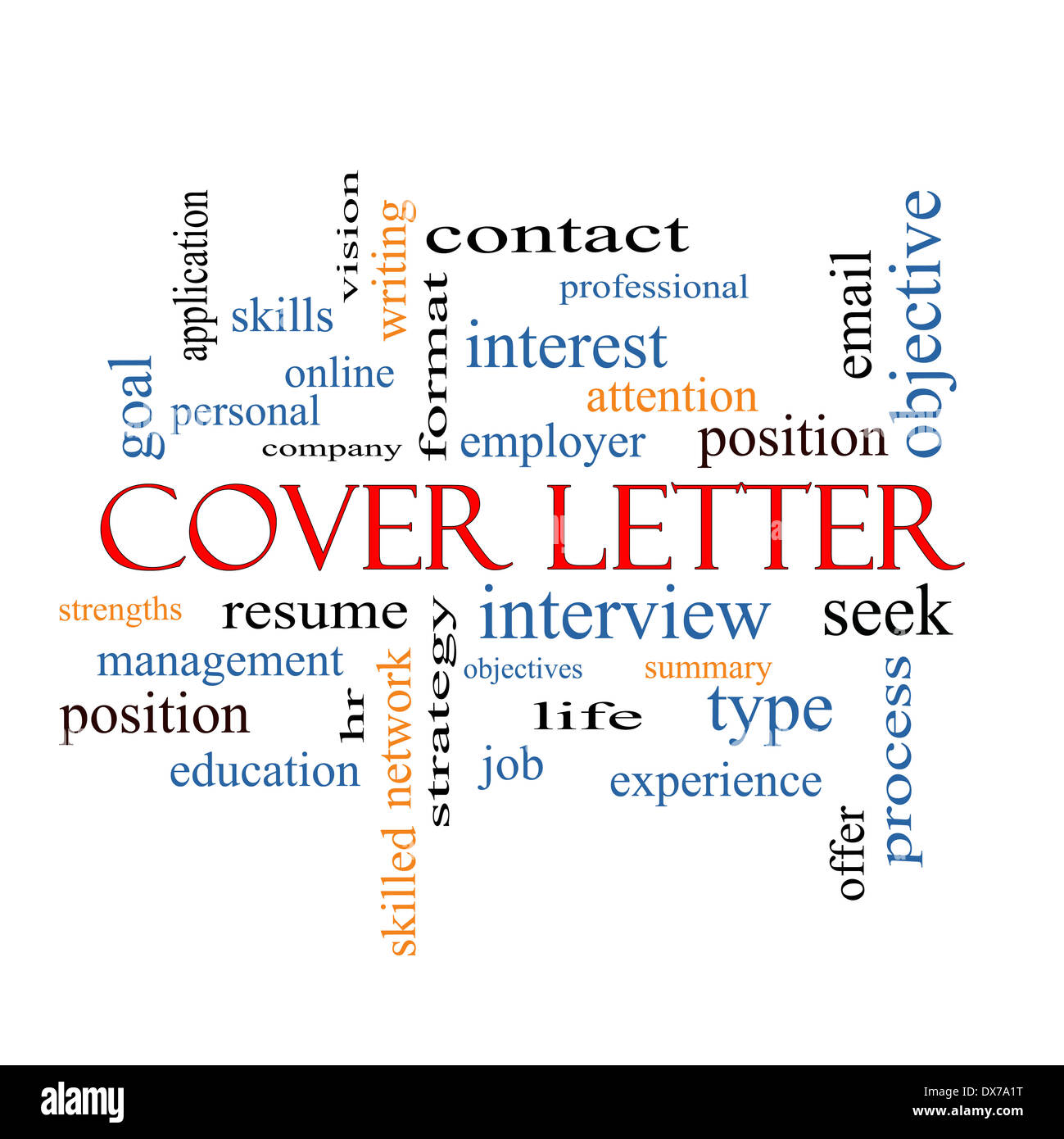 Cover Letter Word Cloud Concept With Great Terms Such As Interview Resume Summary And More Stock Photo Alamy