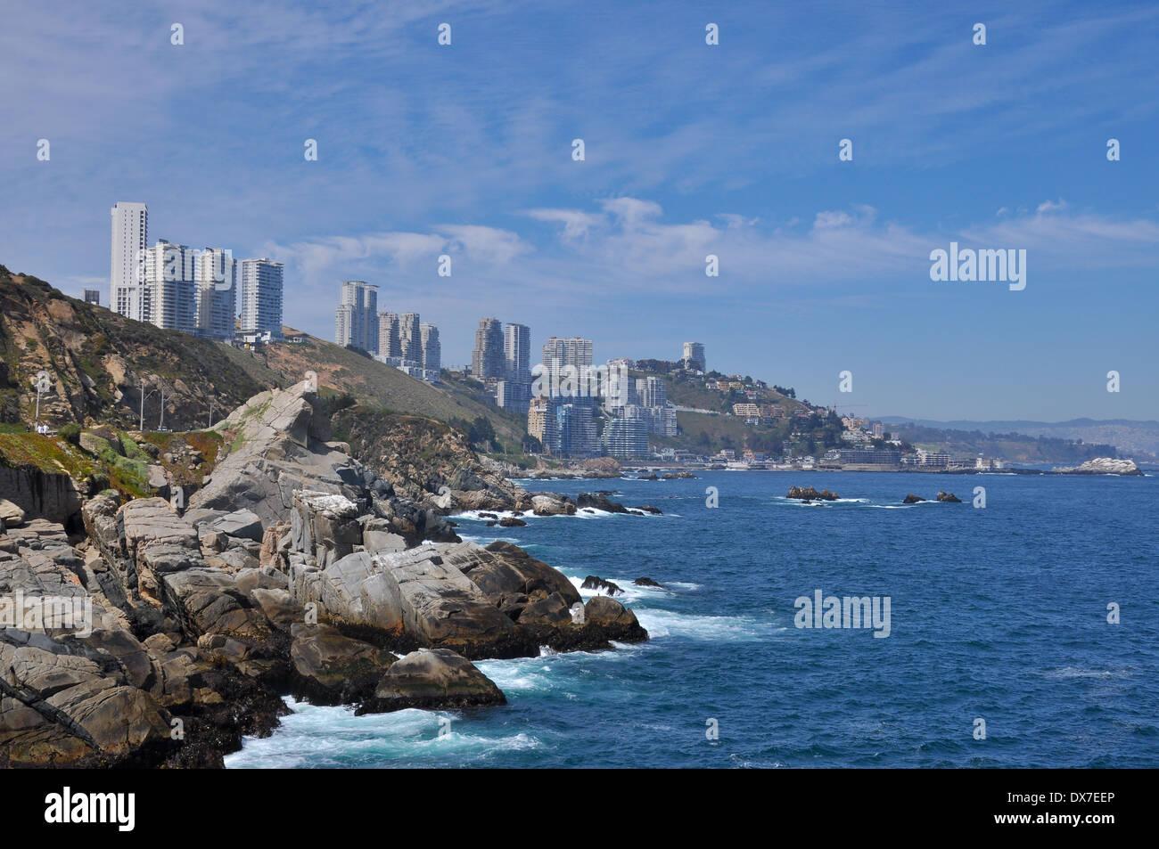Vina del Mar, Chile - Stock Image