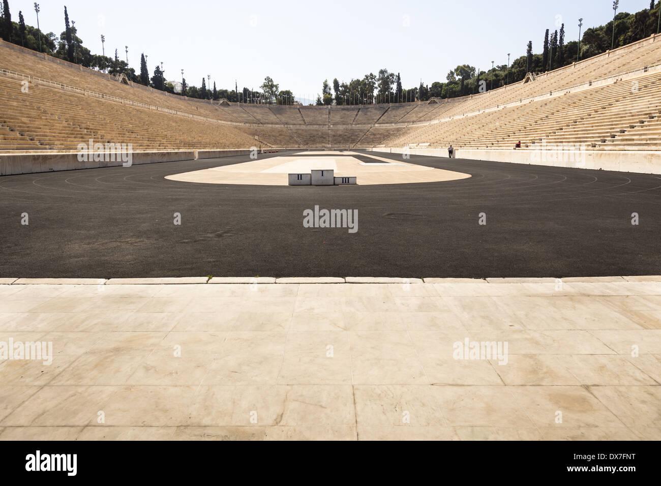 Panathenaic Stadium, original modern day Olympic Stadium, Athens, Greece Stock Photo