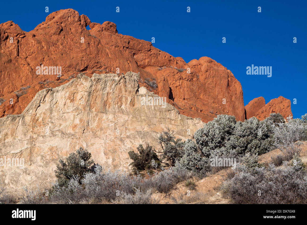 Kissing Camels And White Rock Against A Clear Blue Sky In