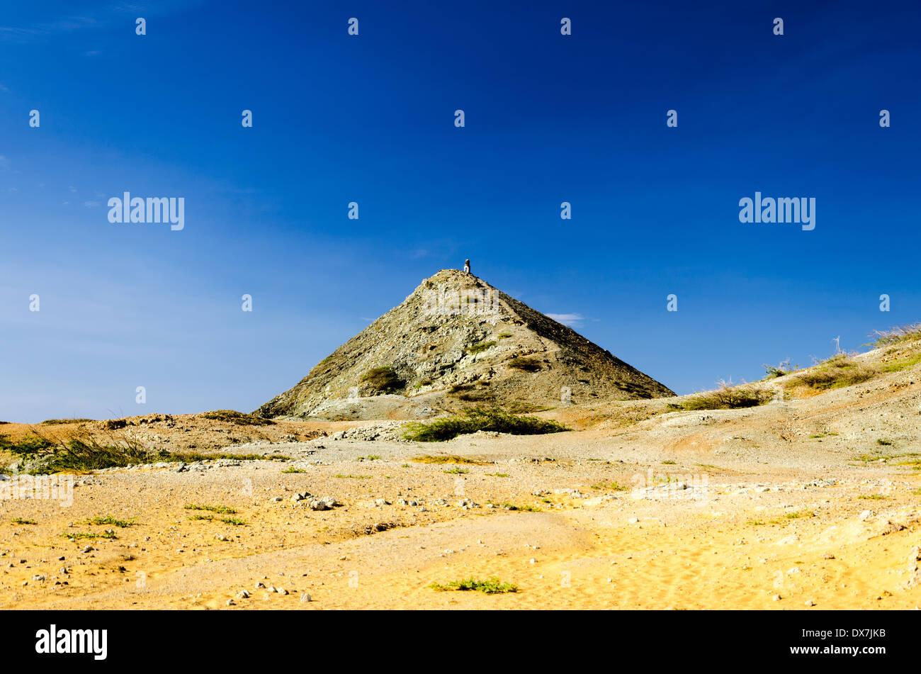 Pilon de Azucar in La Guajira, Colombia rising above the desert - Stock Image