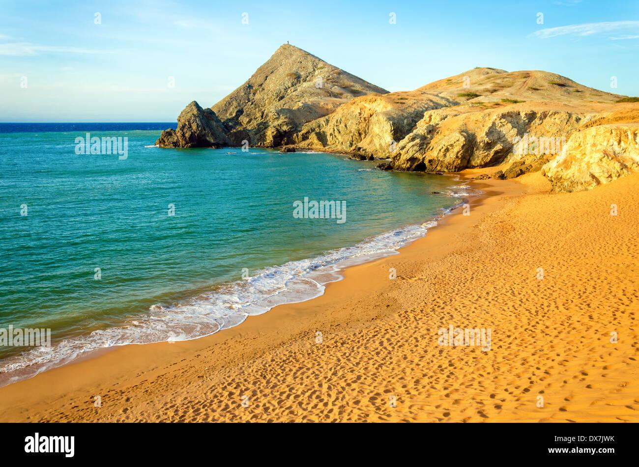 Beach at Pilon de Azucar in La Guajira, Colombia - Stock Image