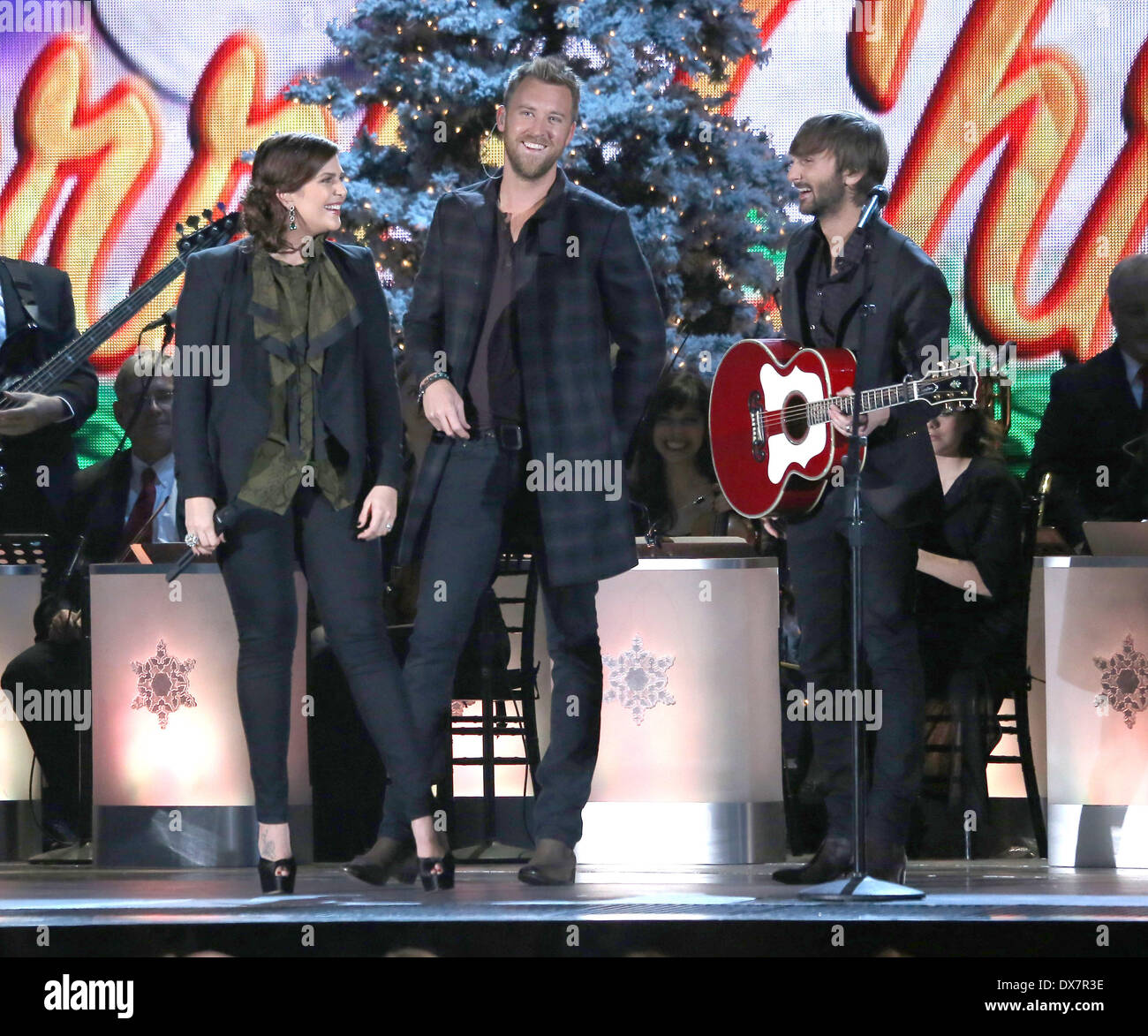 lady antebellum performing at the 2012cma country christmas at bridgestone arena in nashville featuring lady