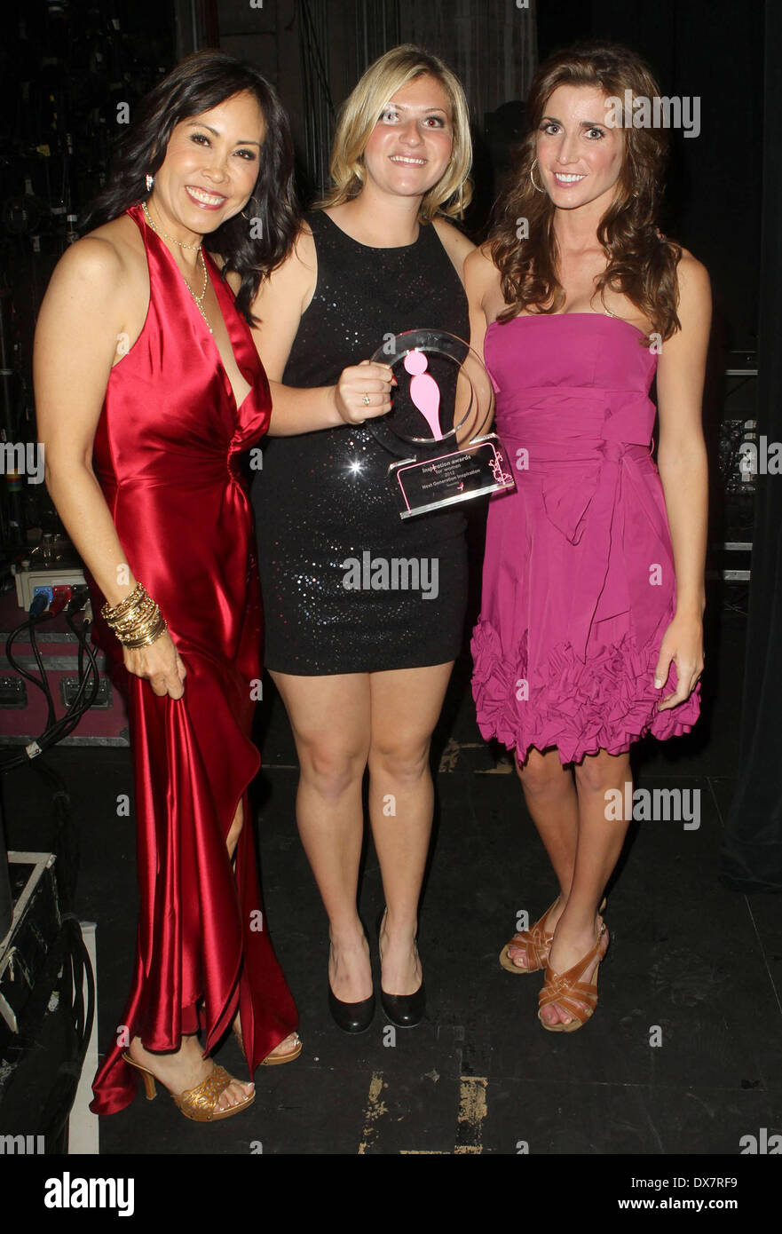 Susan Hirasuna, Meredith Perry, Abbey Curran 2nd Annual Inspiration Women Awards to Benefit The Susan G. Komen For The Cure held at Royce Hall, UCLA - Afterparty Westwood, California - 04.11.12 Featuring: Susan Hirasuna,Meredith Perry,Abbey Curran Where: Los Angeles, California, United States When: 04 Nov 2012 - Stock Image