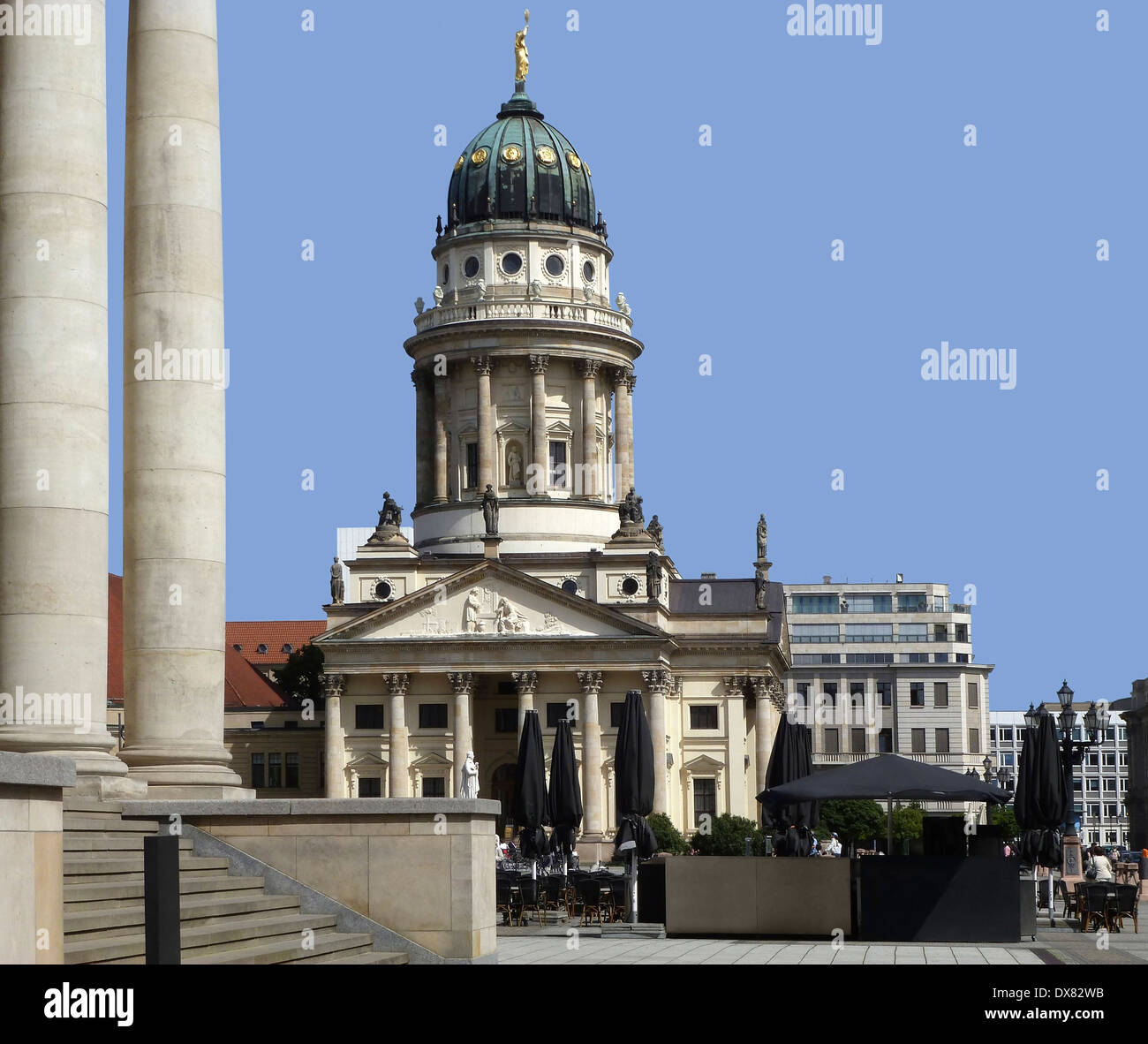 prominent building named French Cathedral in Berlin (Germany) Stock Photo