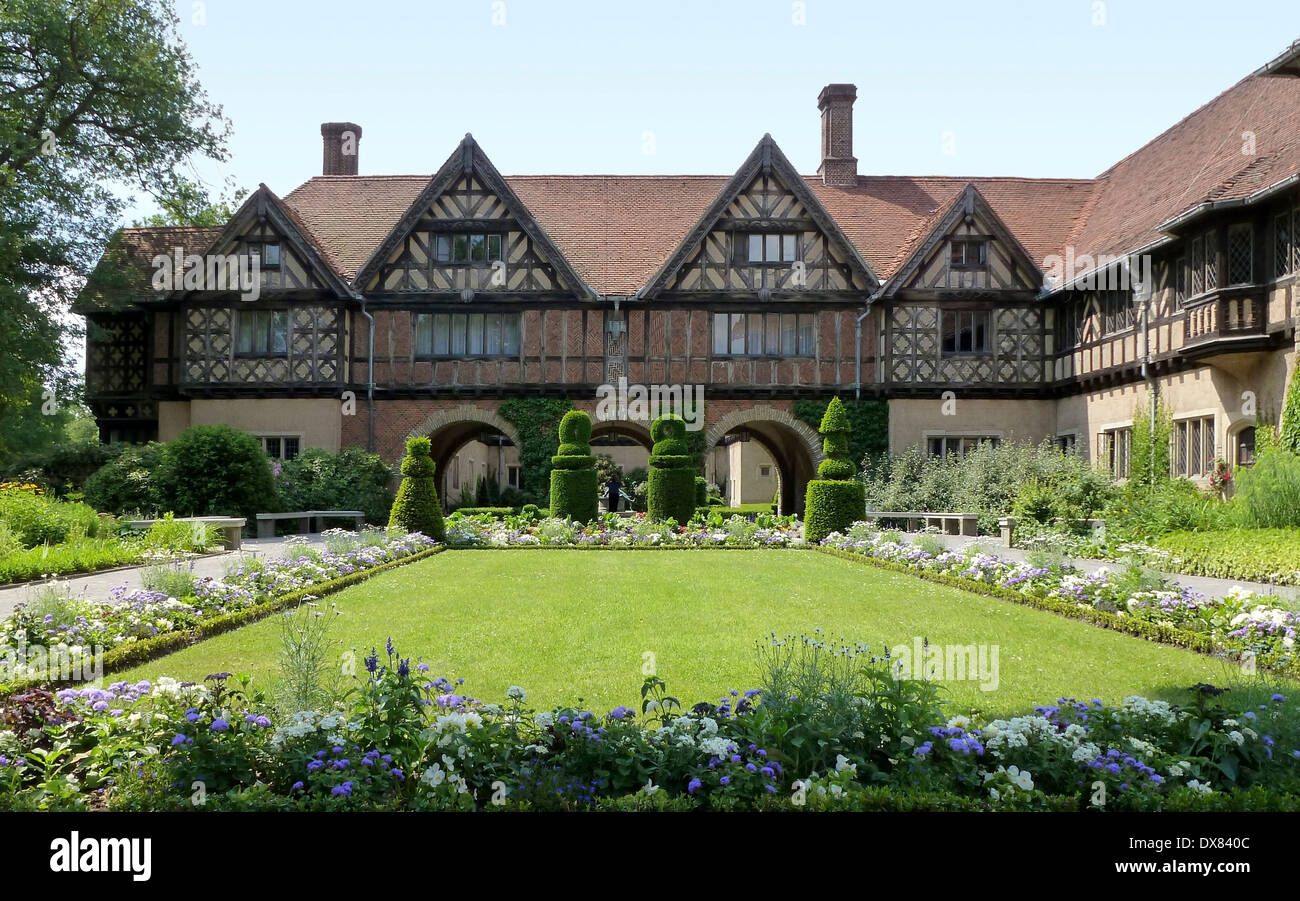 schloss cecilienhof a castle in potsdam germany with park in sunny stock photo 67790924 alamy. Black Bedroom Furniture Sets. Home Design Ideas