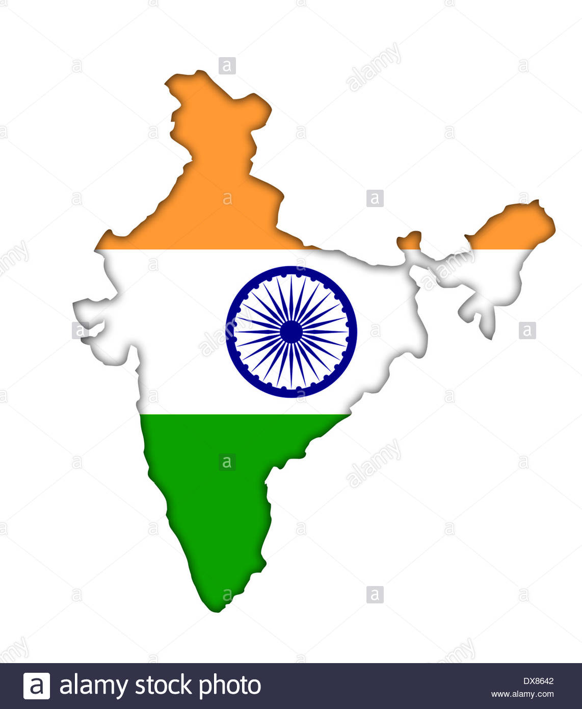 India Map Flag.India Map Flag Icon Logo Stock Photo 67792594 Alamy