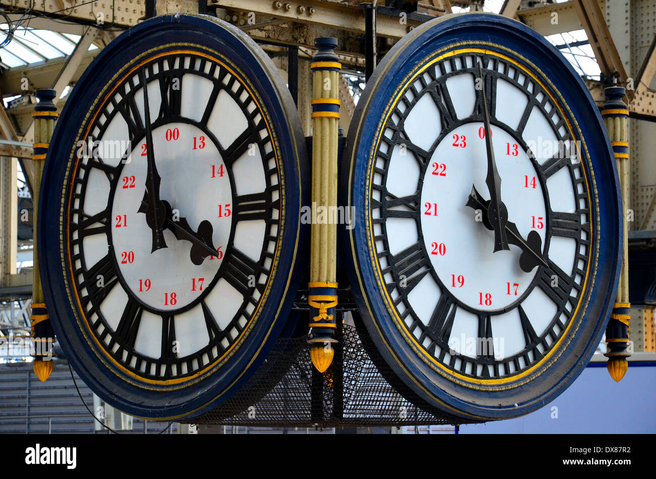The Clock Waterloo Station. - Stock Image
