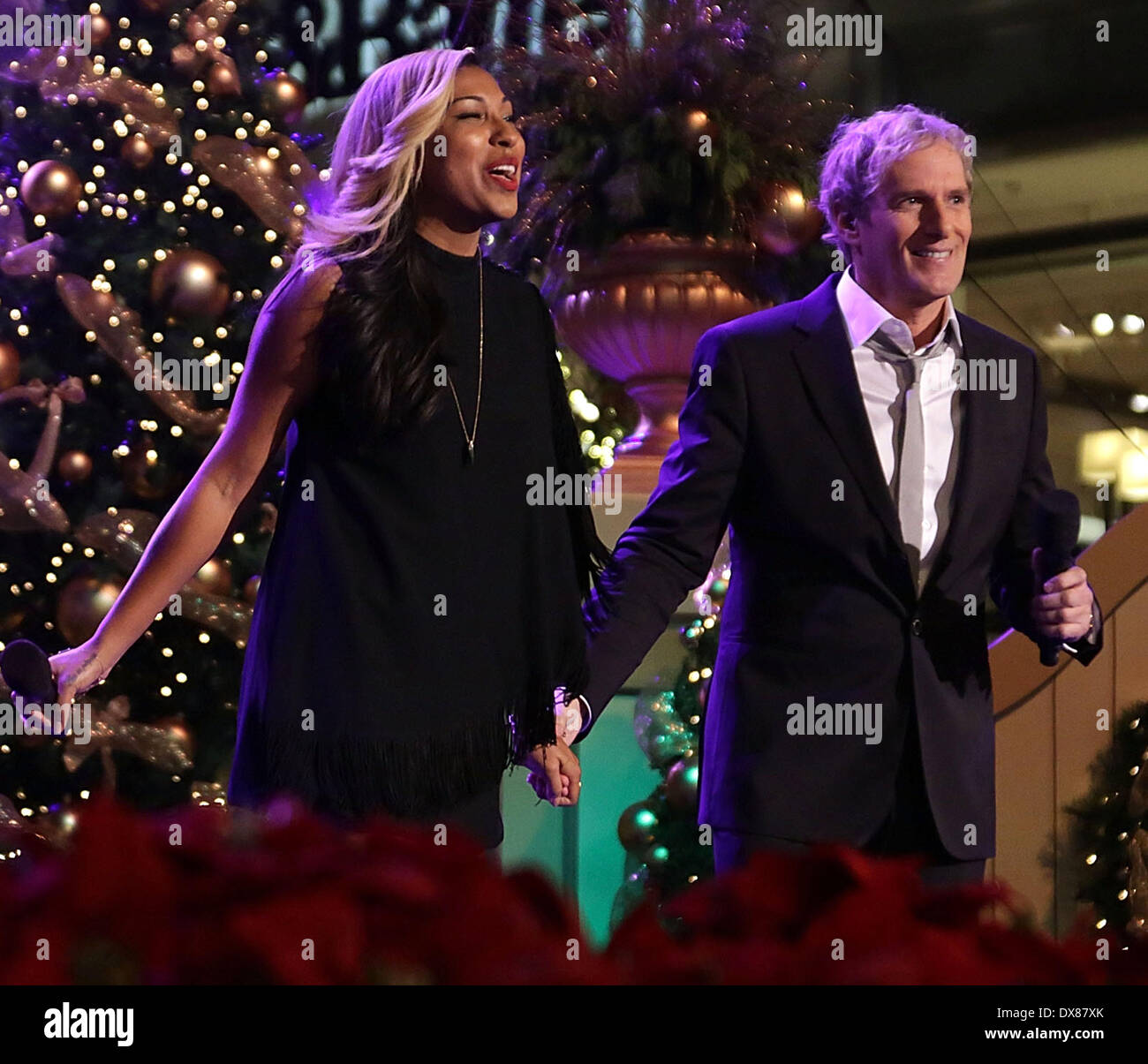melanie fiona and michael bolton magicsnow 10th annual hollywood christmas celebration at the grove los angeles - Michael Bolton Christmas