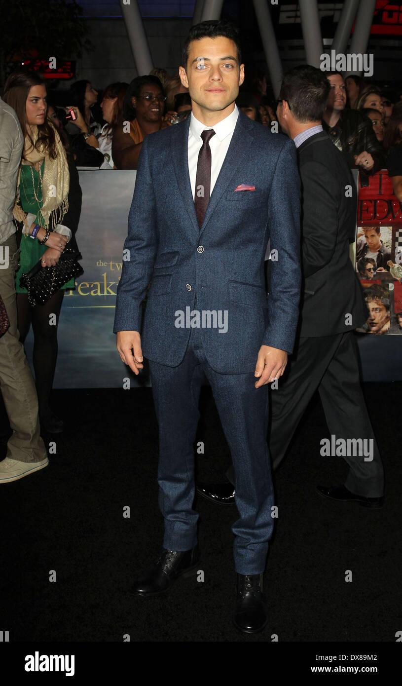 Rami Malek at the premiere of 'The Twilight Saga: Breaking Dawn Stock Photo  - Alamy