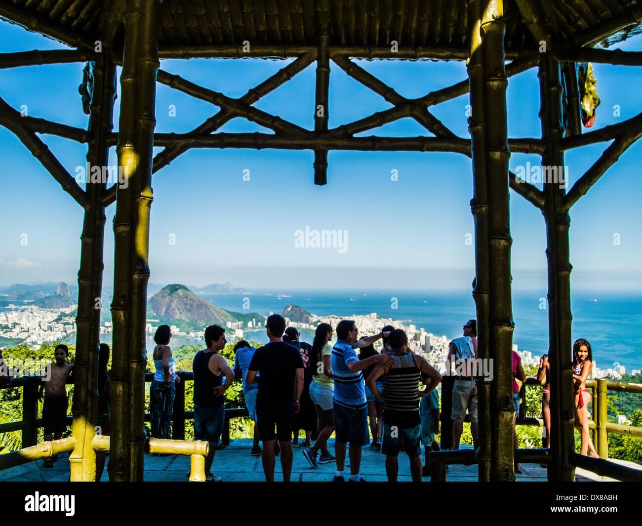 Vista Chinesa/Chines View over Rio de Janeiro Brazil 2014 jan 28th (Hinweis: Mindesthonorar 20 EUR - minimum fee Stock Photo