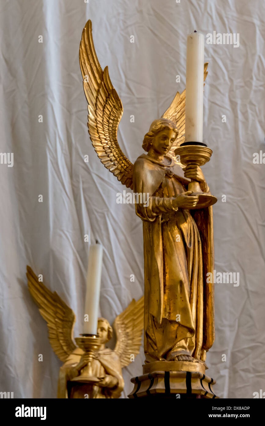 Golden angel candle holder southwark cathedral london