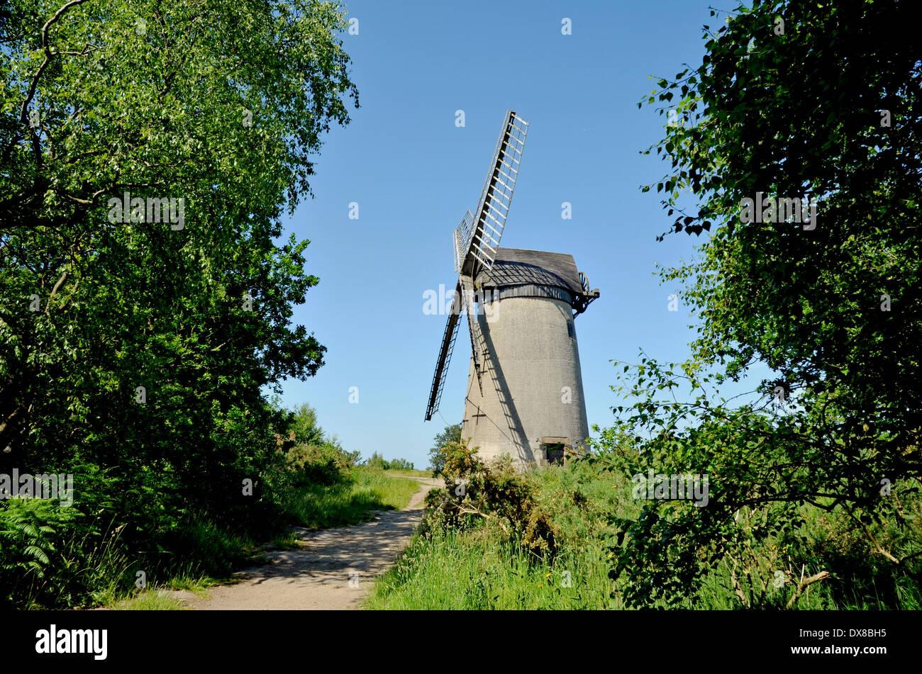 The windmill on Bidston Hill, Birkenhead, Wirral, UK - Stock Image