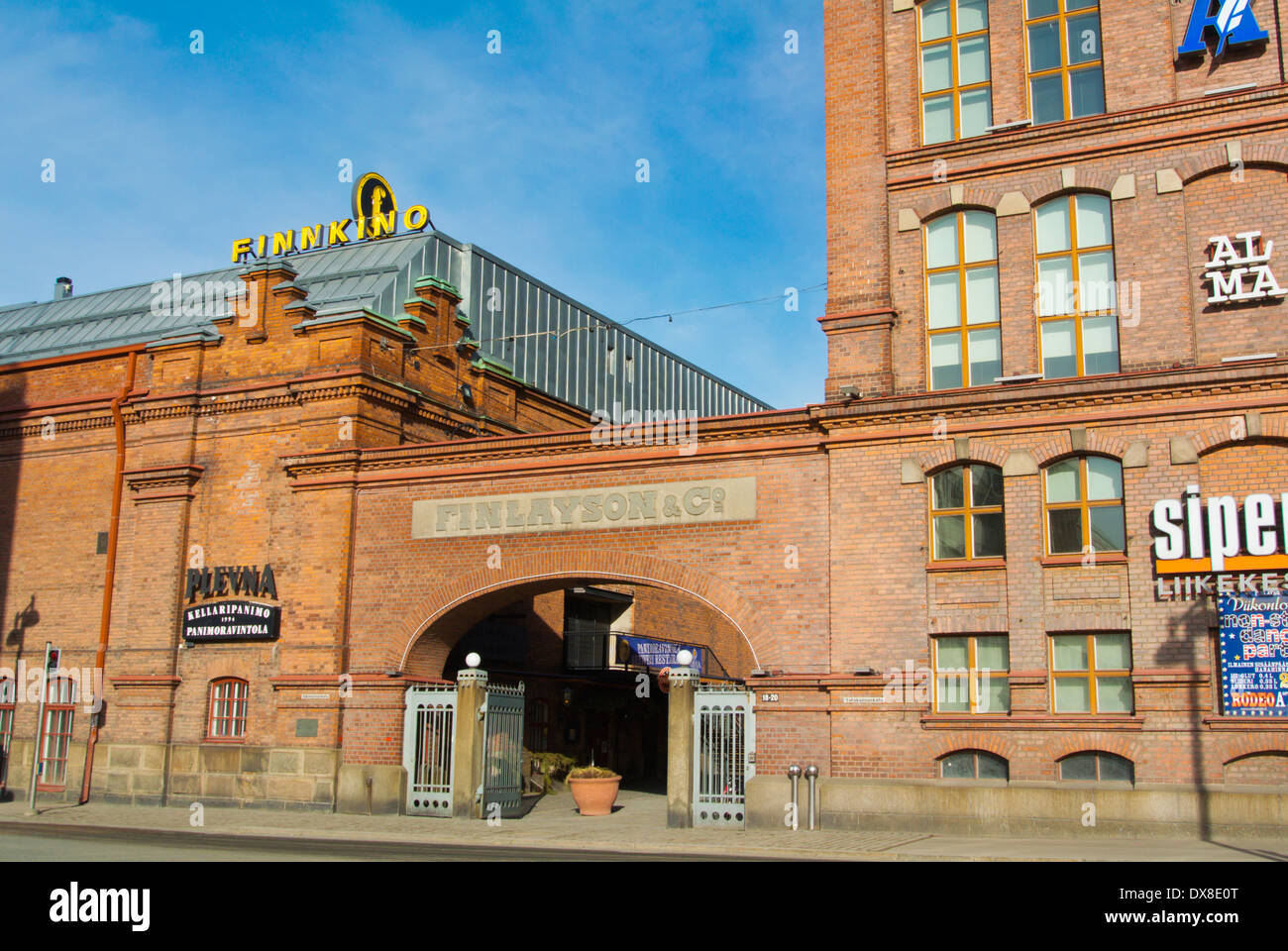 Finlayson, converted former industrial buildings, housing restaurants, shops and museums, central Tampere, central Finland - Stock Image