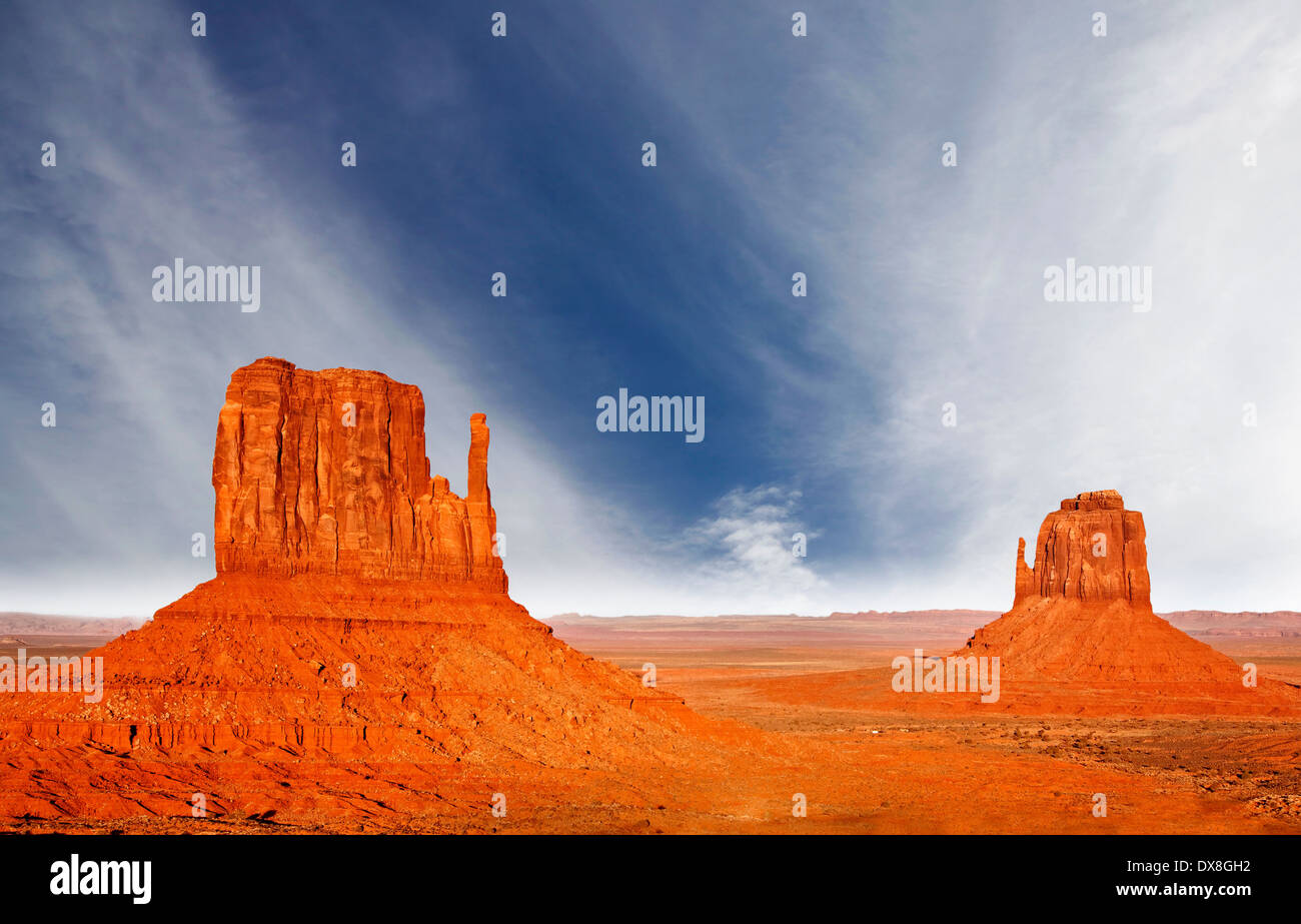 The beautiful unique landscape of Monument Valley, Utah, USA. - Stock Image