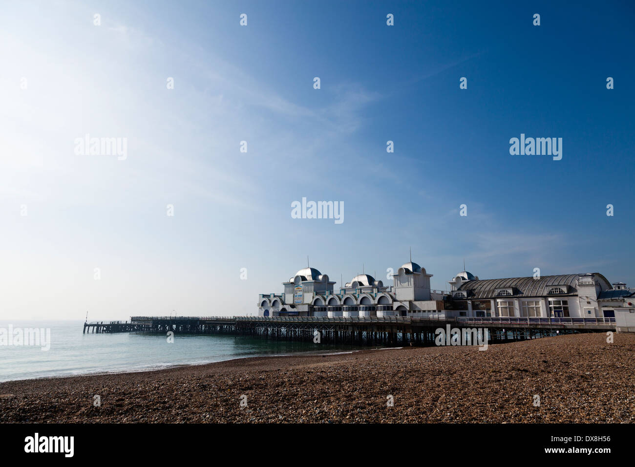 South Parade Pier at Southsea seafront Portsmouth. Stock Photo