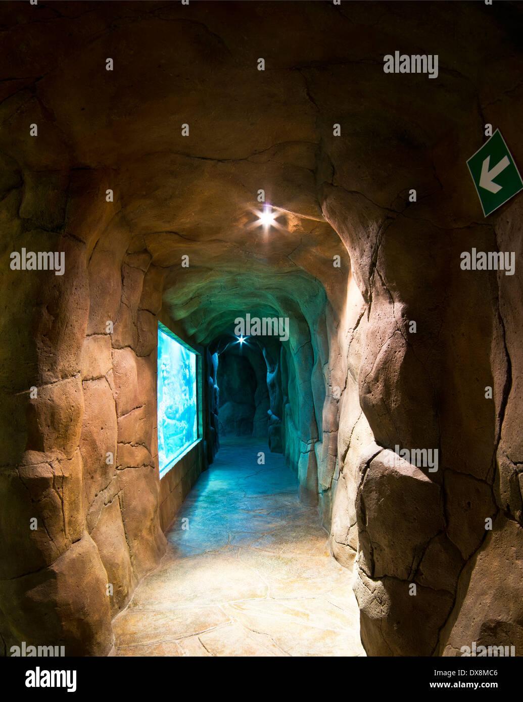 underground interior - Stock Image