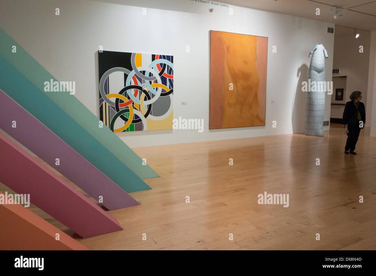 interior gallery of Palm Springs Museum of Art; Palm Springs; California USA - Stock Image