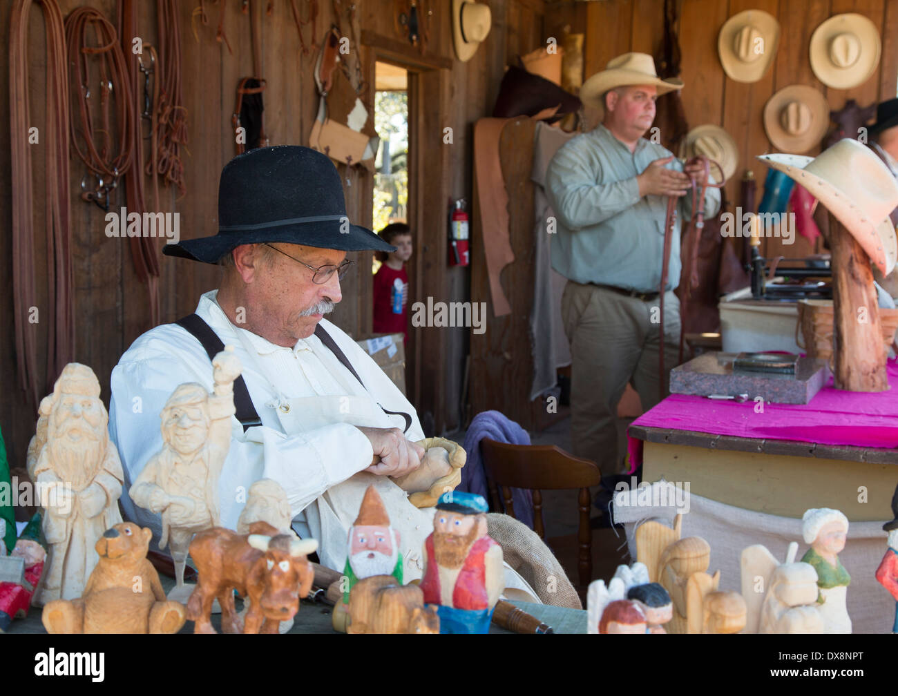 Tampa, Florida - Cracker Country, a living history museum, at the Florida State Fair. - Stock Image