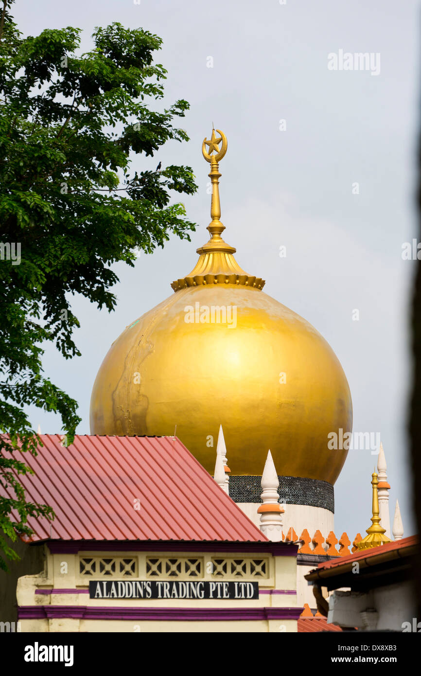 The Cupola of the Masjid Sultan Mosque in Singapore Stock Photo