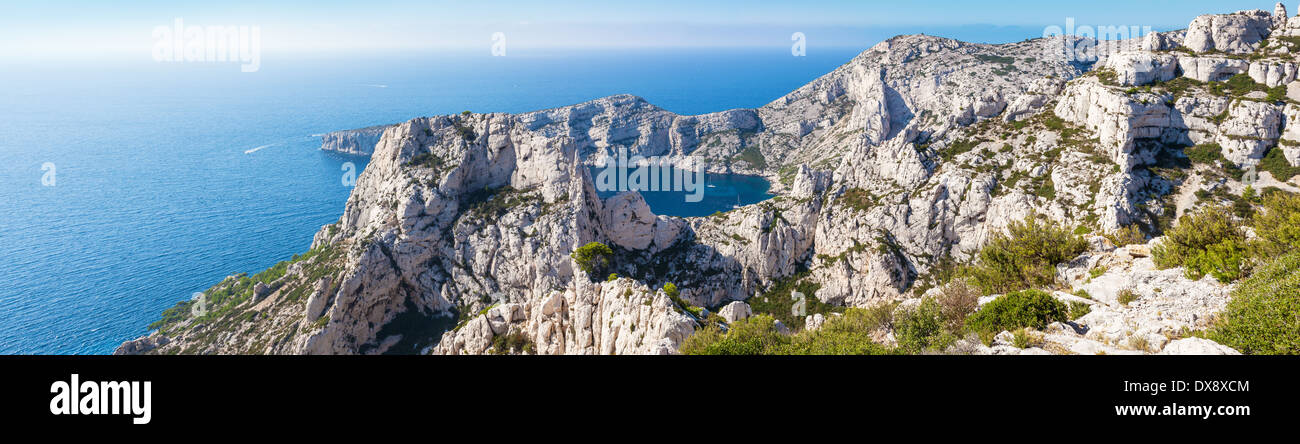 Calanques near Marseille and Cassis in south of France.jpg - Stock Image