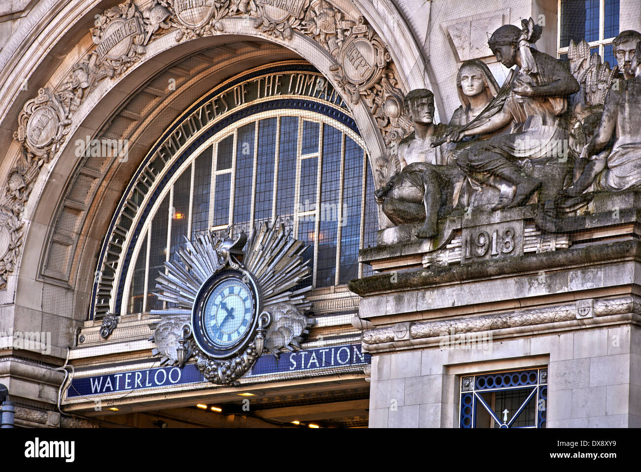 London Waterloo station is a central London railway terminus and London Underground station complex in the London - Stock Image