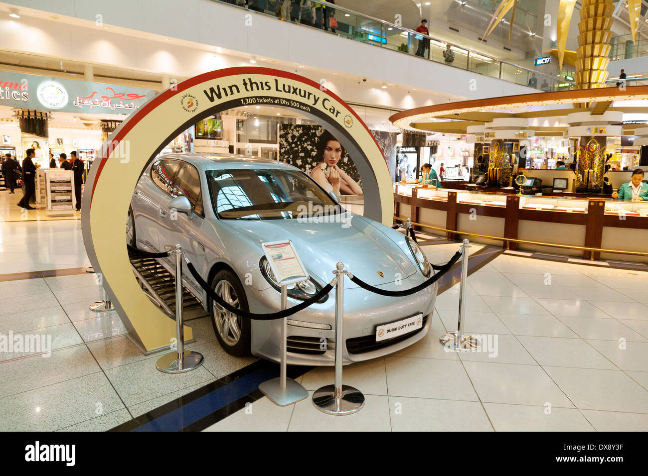 A Luxury Car Prize To Be Won In A Lottery At Dubai Airport Terminal