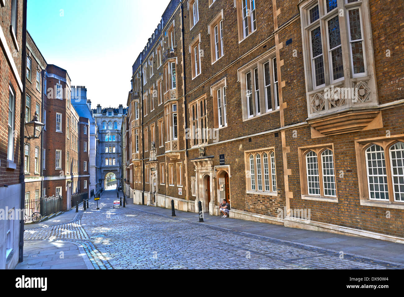Inner Temple and Middle Temple. The core of the district lies in the City of London and consists of two Inns of Court - Stock Image