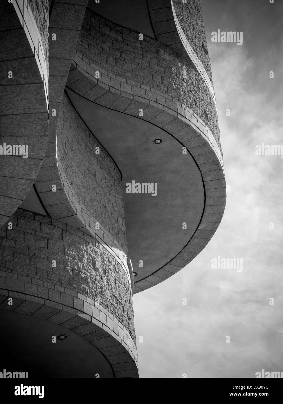 Intersecting curves at the Museum of Civilization. Complex curves make the architecture of this landmark capital region museum - Stock Image