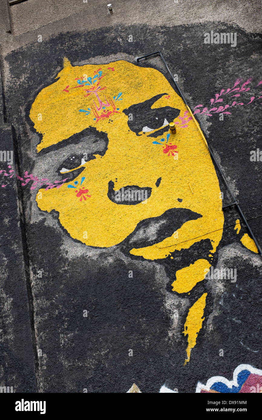 Urban Art or Street Mural in the Stokes Croft District, Bristol - Stock Image