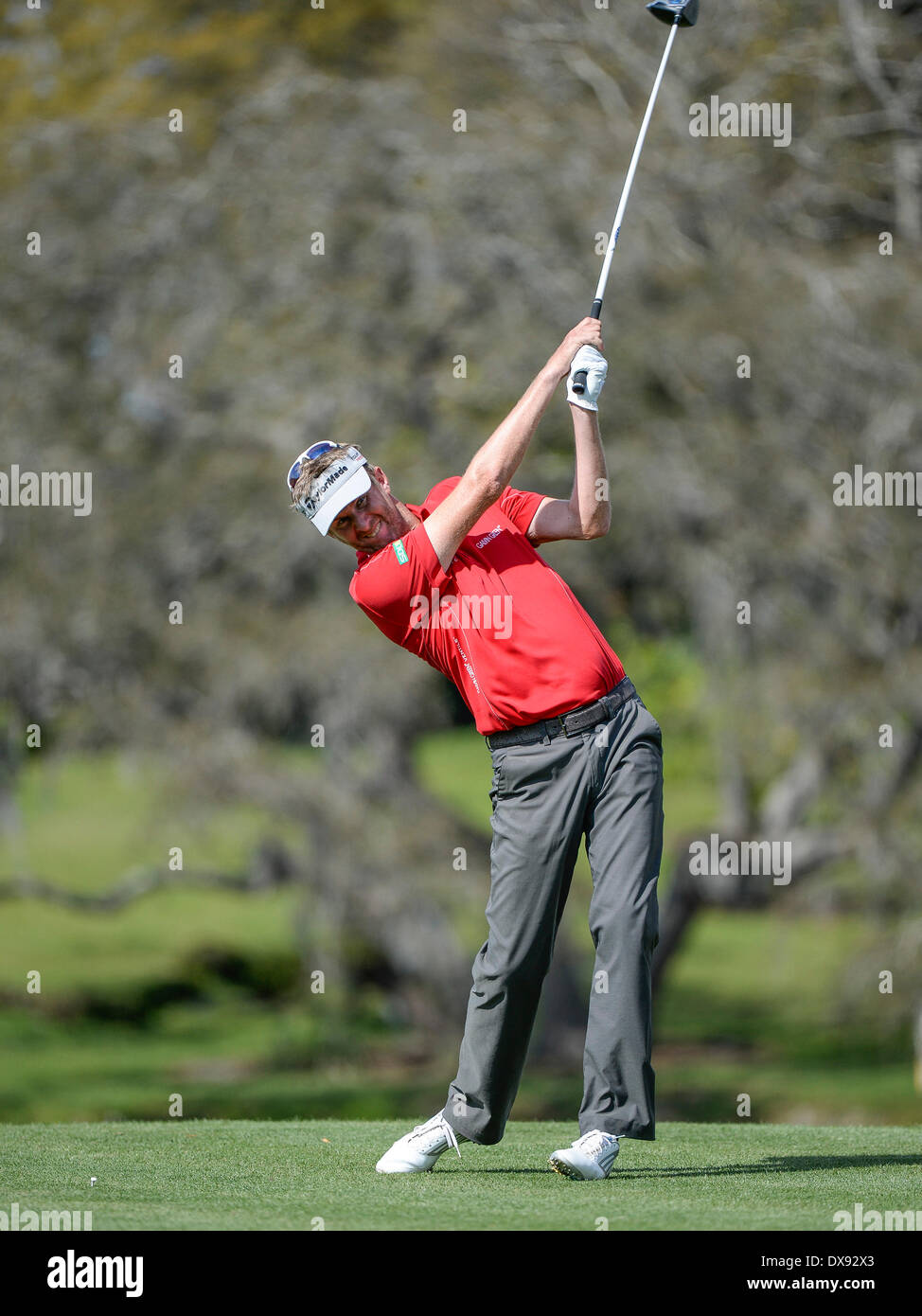 20th Mar, 2014. David Lynn on #16 tee during first round golf action of the Arnold Palmer Invitational presented by Mastercard held at Arnold Palmer's Bay ...