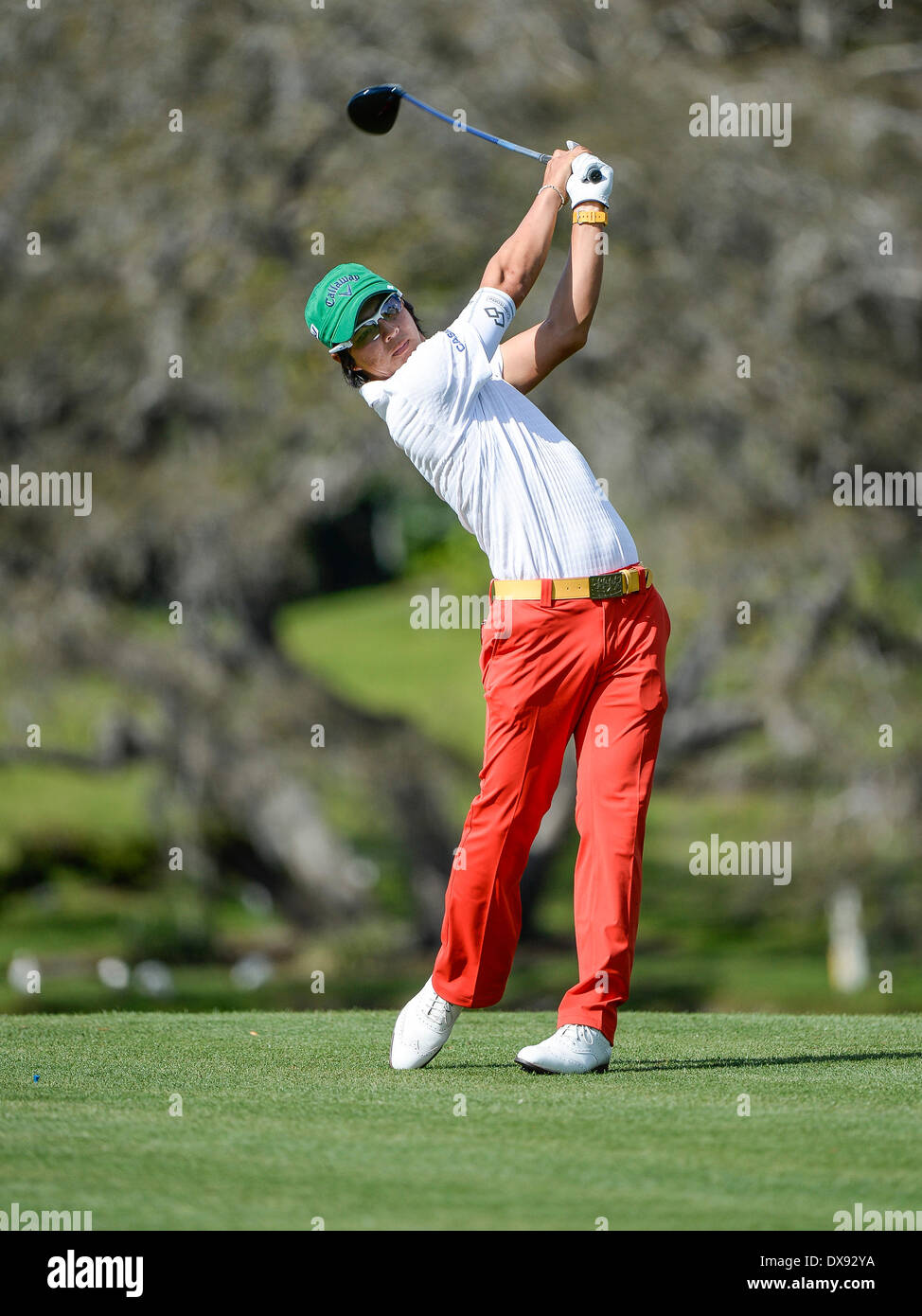 20th Mar, 2014. Rio Ishikawa on #16 tee during first round golf action of the Arnold Palmer Invitational presented by Mastercard held at Arnold Palmer's Bay ...