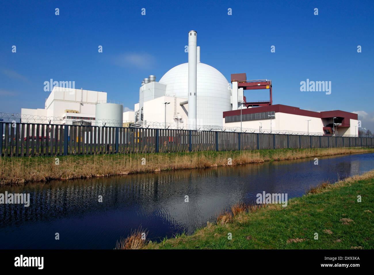 Nuclear Power Station Brokdorf Stock Photo