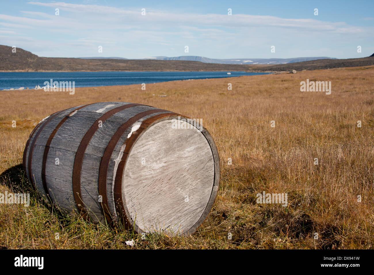 Canada, Nunavut, Qikiqtaaluk Region, Kekerten Island off the coast of Baffin Island. - Stock Image