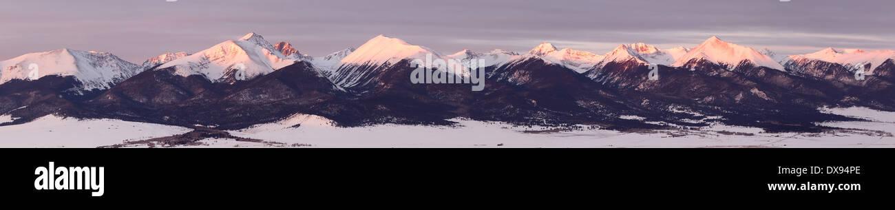 Sangre de Cristo Mountain range panorama - Stock Image