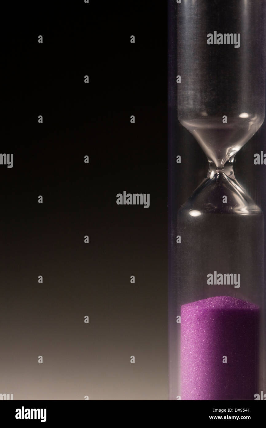 Hourglass with no sand on top - Stock Image